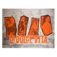 La Dolce Vita R1987 UK BFI Quad Film Poster