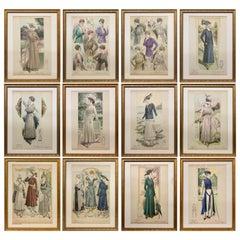 'La Femme Chic' French Belle Époque Fashion Prints, Framed Set