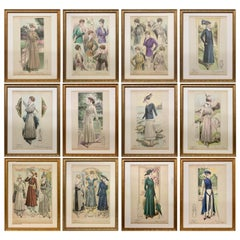 'La Femme Chic' French Belle Époque Fashion Prints, Framed Set