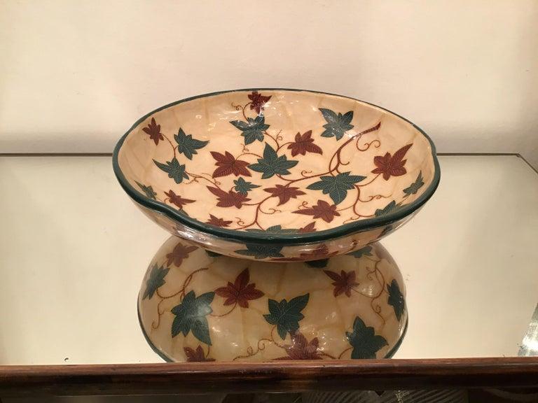 "La Fenice ""Albisola"" centerpiece ceramic 1930 Italy."
