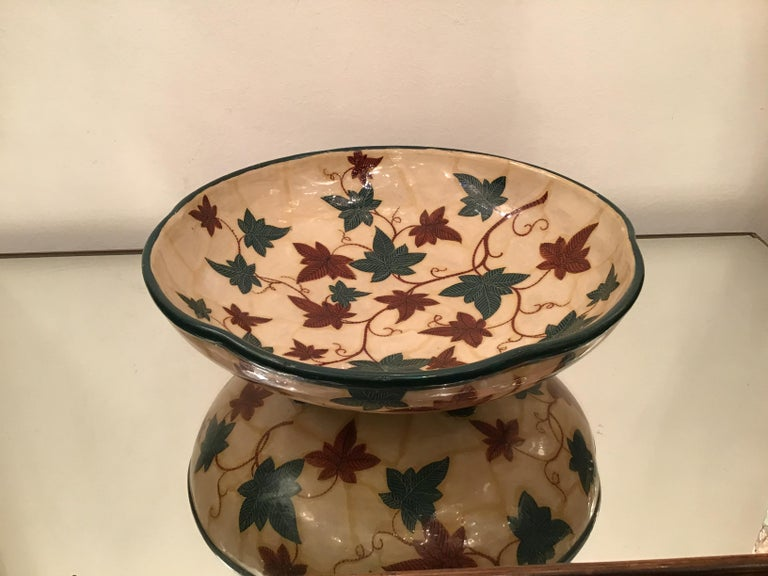 "Art Deco La Fenice ""Albisola ""Centerpiece Ceramic 1930 Italy  For Sale"