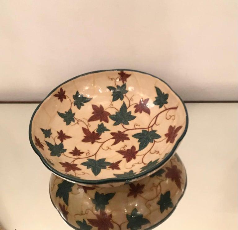 "Italian La Fenice ""Albisola ""Centerpiece Ceramic 1930 Italy  For Sale"