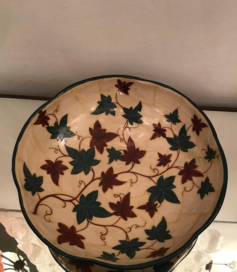 "Mid-20th Century La Fenice ""Albisola ""Centerpiece Ceramic 1930 Italy  For Sale"