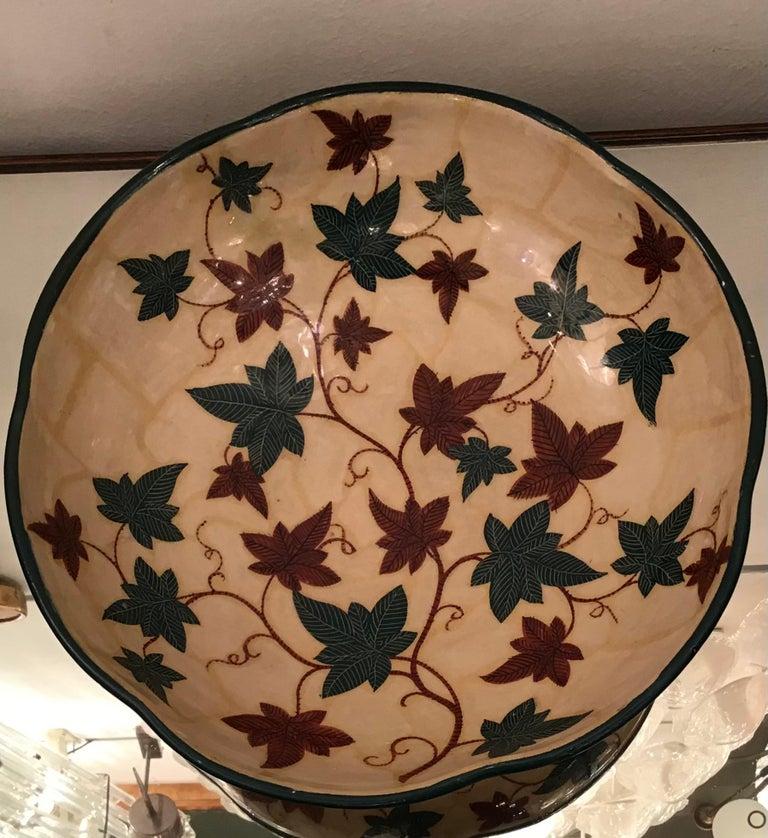 "La Fenice ""Albisola ""Centerpiece Ceramic 1930 Italy  For Sale 1"