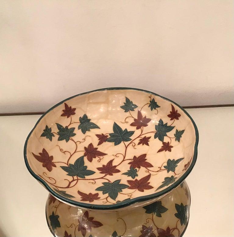 "La Fenice ""Albisola ""Centerpiece Ceramic 1930 Italy  For Sale 2"