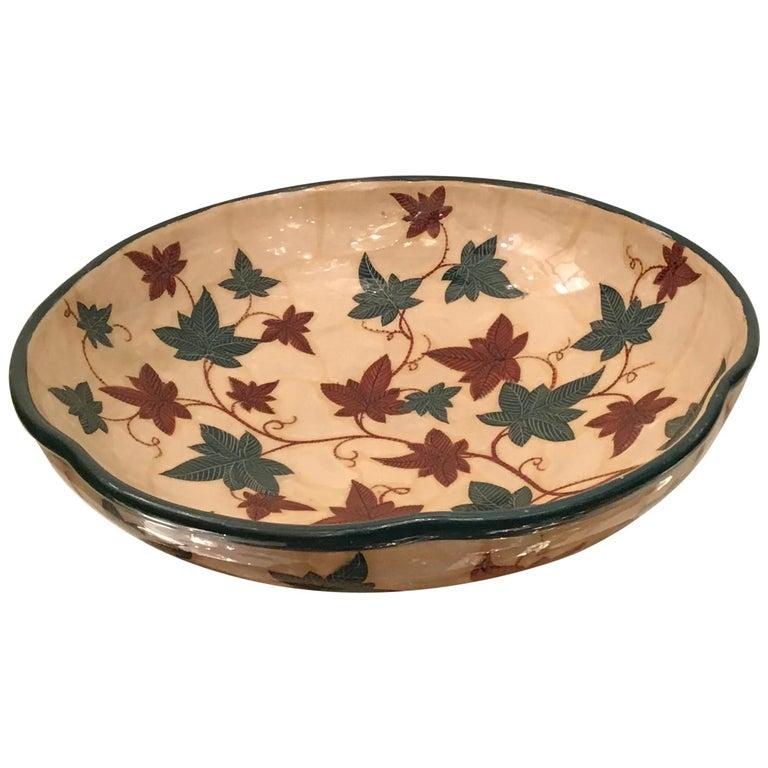 "La Fenice ""Albisola ""Centerpiece Ceramic 1930 Italy  For Sale"