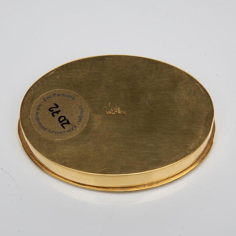 """""""La fille aux nattes"""" Gilded Bronze Compact, Line Vautrin 'France' For Sale 3"""