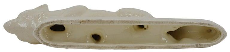 La Fontinelle French Art Deco Crackle Glaze Ceramic Fox, ca.1925 For Sale 3