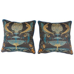 La Fuente Ornate Embroidered Throw Pillow