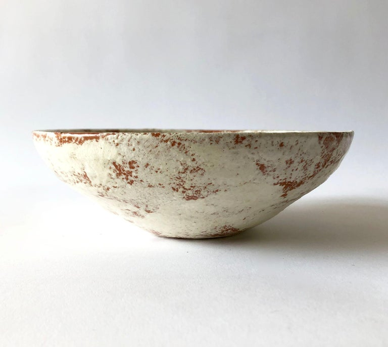 Mid-Century Modern La Gardo Tackett California Studio Ceramic Bowl with Paleolithic Design For Sale
