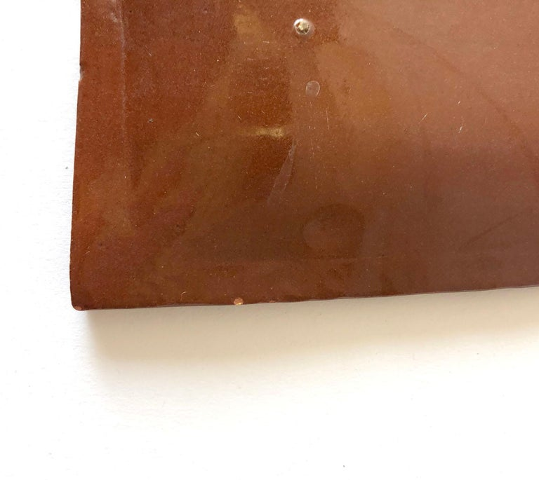 La Gardo Tackett California Studio Ceramic Platter with Paleolithic Design In Good Condition For Sale In Pasadena, CA