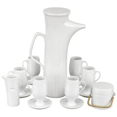 "La Gardo Tackett ""Forma"" Series Coffee/Tea Service with Sugar Bowl and Creamer"