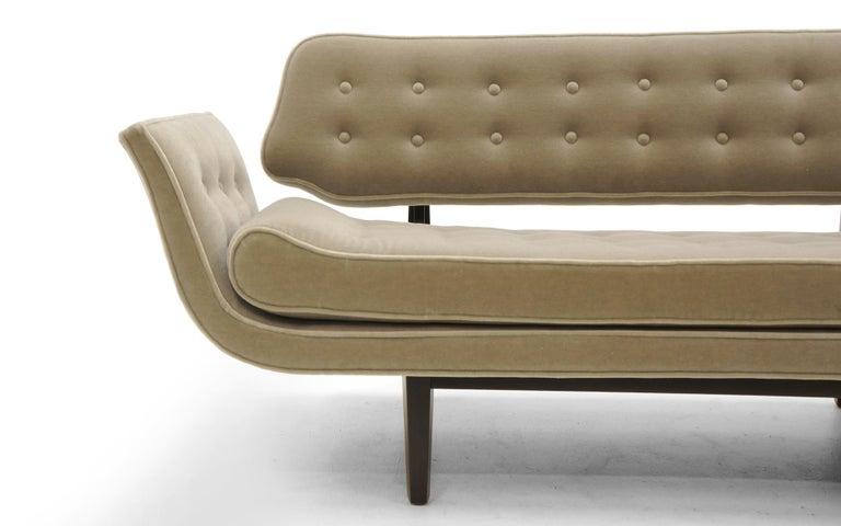 La Gondola Sofa by Edward Wormley for Dunbar, Expertly Restored, Gray Mohair 4
