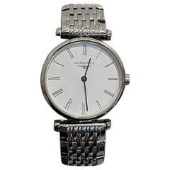 La Grande Longines Ladies Watch 14 Karat White Gold White Dial