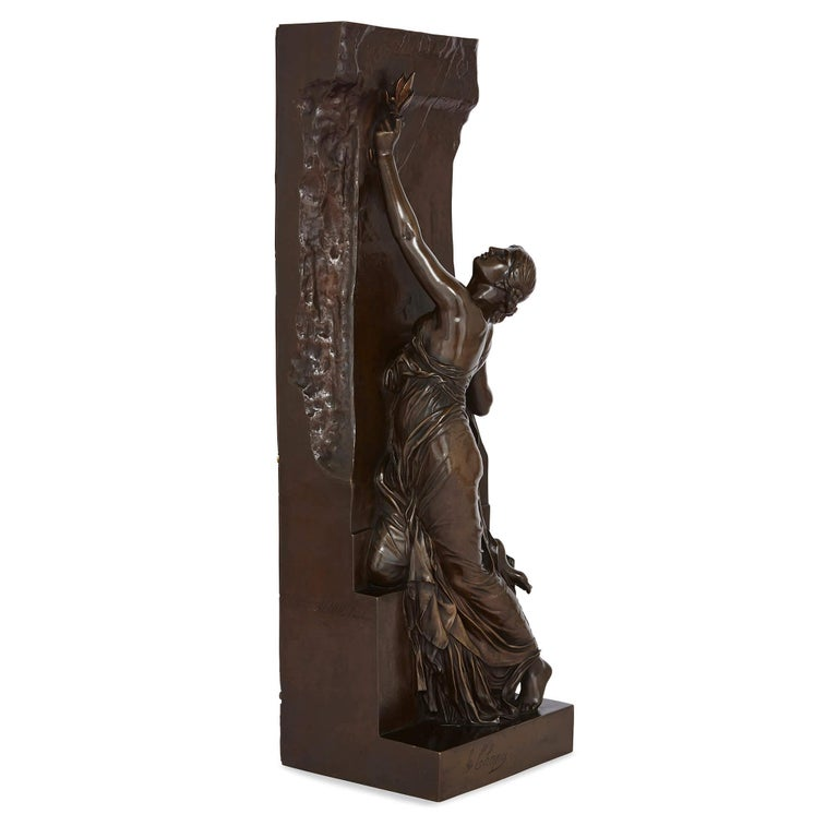 'La Jeunesse' 19th Century bronze sculpture by Chapu and Barbedienne  For Sale