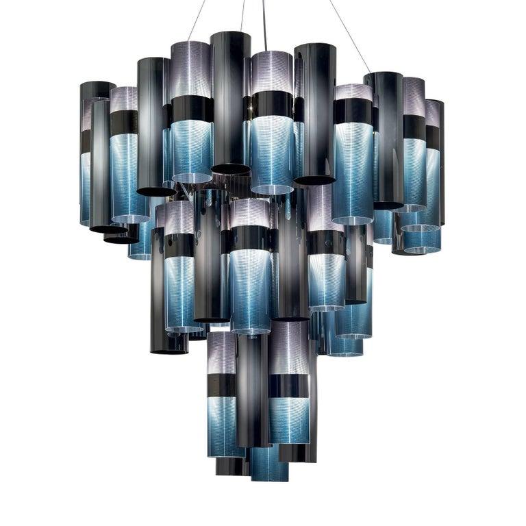 La Lollo Extra Large Blue Ceiling Lamp by Lorenza Bozzoli For Sale