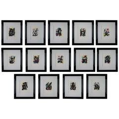 La Melodie Acide Suite by Joan Miro 1980 Original Set 14 Lithographs Framed COA
