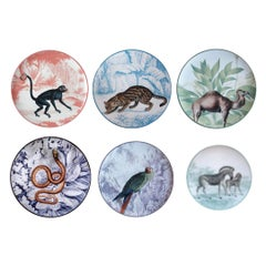 La Menagerie Ottoman Dessert Plates Set of 6 One