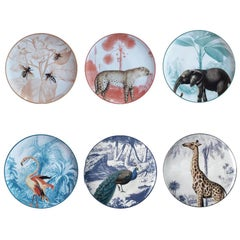 La Menagerie Ottomane Dessert Plates Set of 6 Two