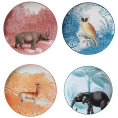 La Menagerie Ottomane Set of 4 Dessert Plates