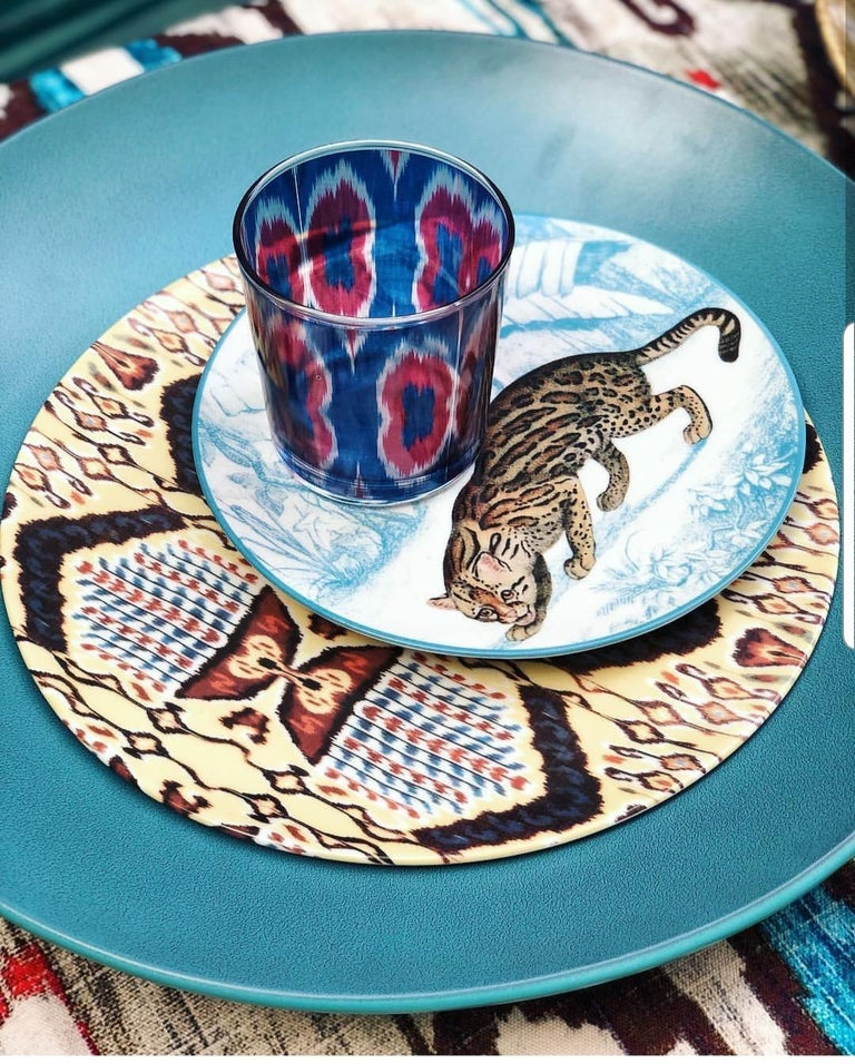 La Menagerie Ottomane Tiger Porcelaine Dinner Plate Handmade in Italy In New Condition For Sale In ROCCAVIVARA CB, IT
