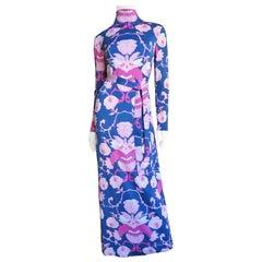La Mendola Maxi Dress and Silk Over Skirt 1970s