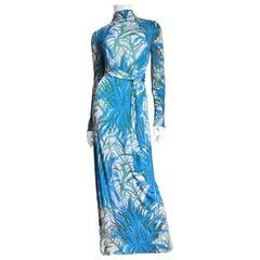 La Mendola Silk Maxi Dress and Over Skirt 1970s