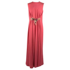 La Mendola Vintage Pink Kaftan Sleeveless Gown Evening Dress Size 46