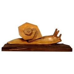 """""""La Mode"""" 'Fashion' László Rajki, Hand Carved Wooden Sculpture, 1983"""