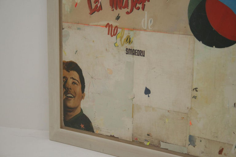 La Mujer Large Abstract Collage by Artist Huw Griffith For Sale 4