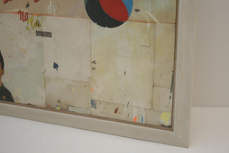 La Mujer Large Abstract Collage by Artist Huw Griffith For Sale 5