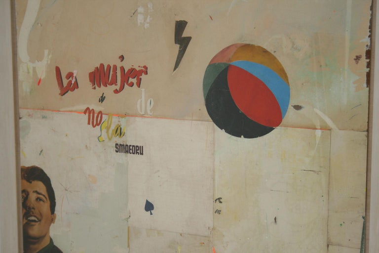 Paper La Mujer Large Abstract Collage by Artist Huw Griffith For Sale