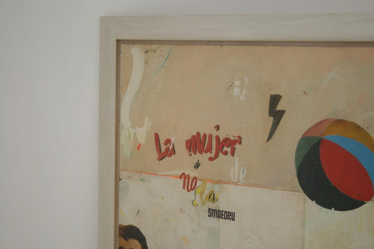 La Mujer Large Abstract Collage by Artist Huw Griffith For Sale 2
