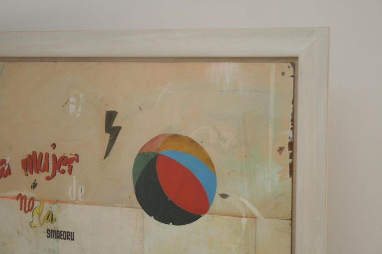 La Mujer Large Abstract Collage by Artist Huw Griffith For Sale 3