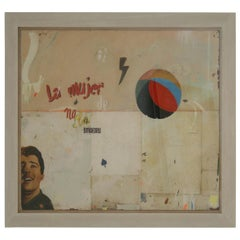 La Mujer Large Abstract Collage by Artist Huw Griffith