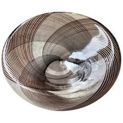 La Murrina Hand Blown 1980s Glass Center Piece Made in Murano Venice