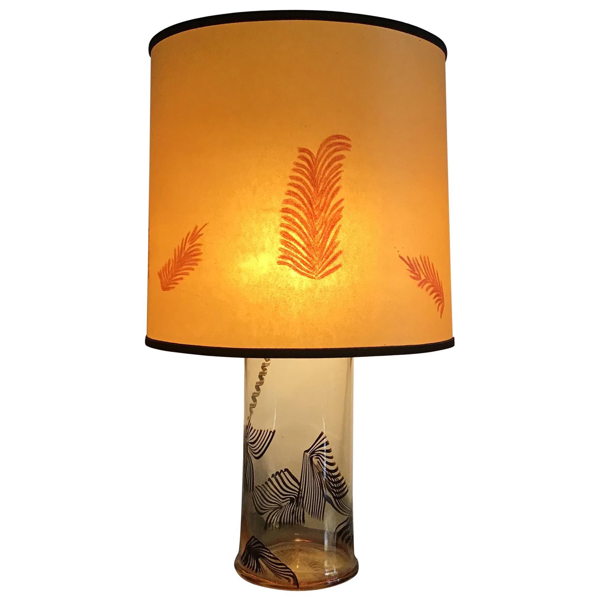 "La Murrina ""Lino Tagliapietra"" Table Lamp 1972 Murano Glass Brass, Italy"