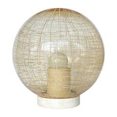 La Murrina Pale Yellow Globe and Travertine Table / Floor Lamp