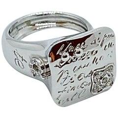 La Nouvelle Bague 18 Karat White Gold Fiori Ring with Diamonds