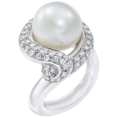 La Nouvelle Bague 1.80 Carat Diamond and Pearl Ring