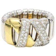 La Nouvelle Bague 18 Karat Gold Diamond X-Band Ring