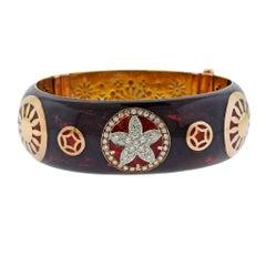 La Nouvelle Bague Enamel Diamond Bangle Bracelet