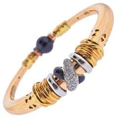 La Nouvelle Bague Gold Diamond Enamel Bracelet