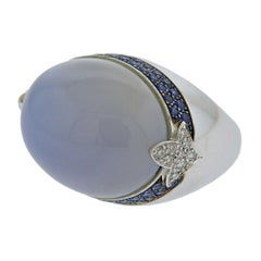 La Nouvelle Bague Gold Diamond Sapphire Chalcedony Ring