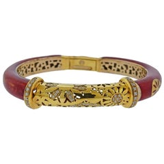 La Nouvelle Bague Gold Silver Enamel Diamond Bangle Bracelet