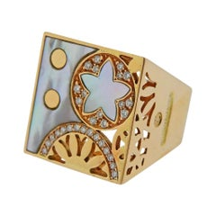 La Nouvelle Bague Rose Gold Mother of Pearl Diamond Ring