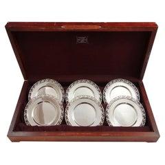 La Paglia by International Sterling Silver Dessert Plate Set of 6-Piece #139-88