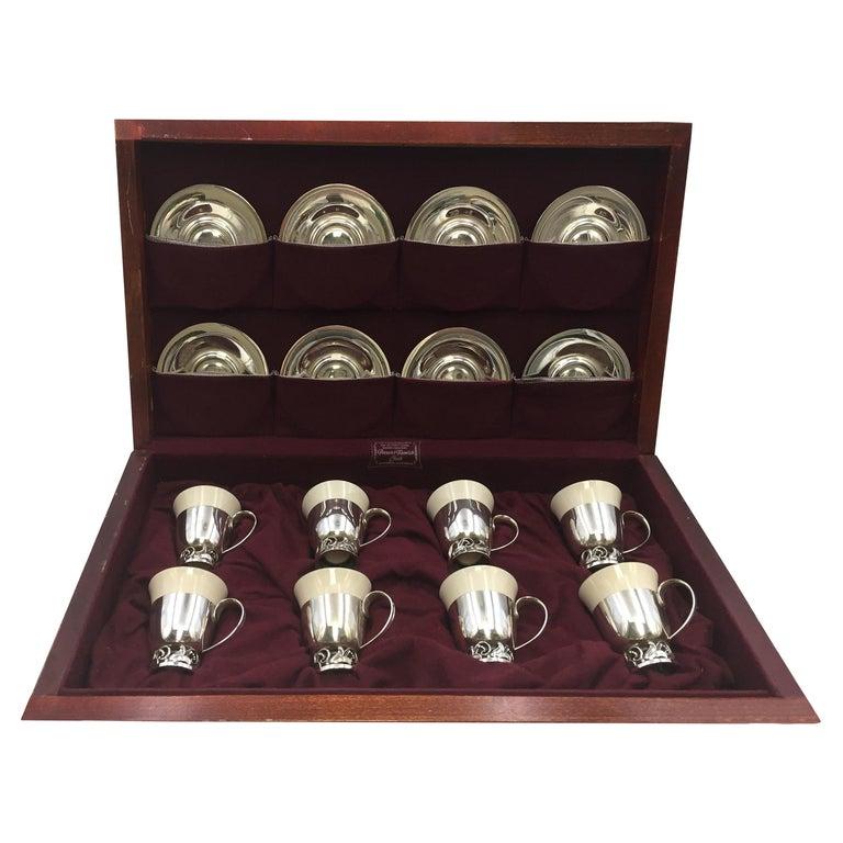 La Paglia Sterling Silver Demitasse Tea Service by International Sterling For Sale
