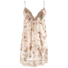 La Perla Floral Print Nude Night Dress & Robe 2