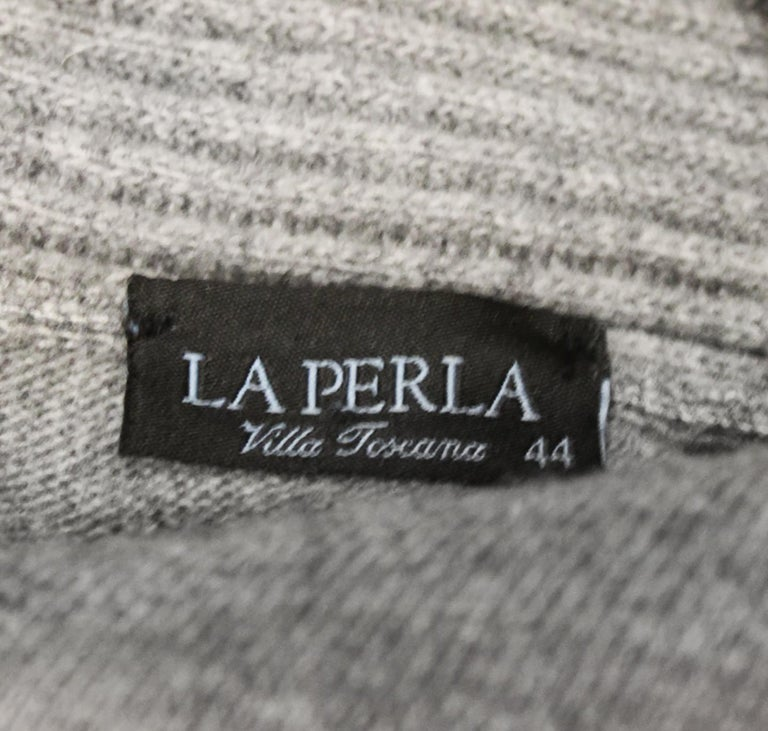 La Perla Grey Long Cardigan Sweater W/ Sash  For Sale 1